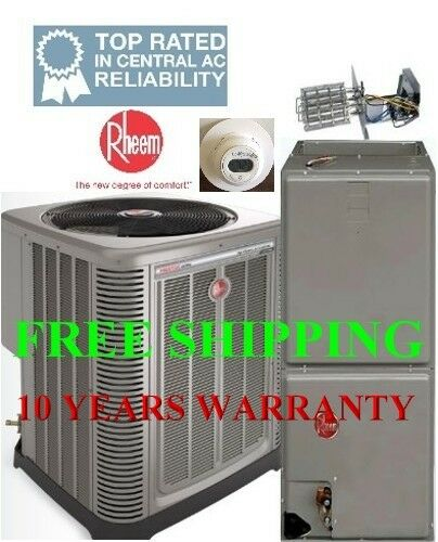 3 Ton R-410A 14SEER Heat Pump System Condensing Unit  Air Handler with Coil