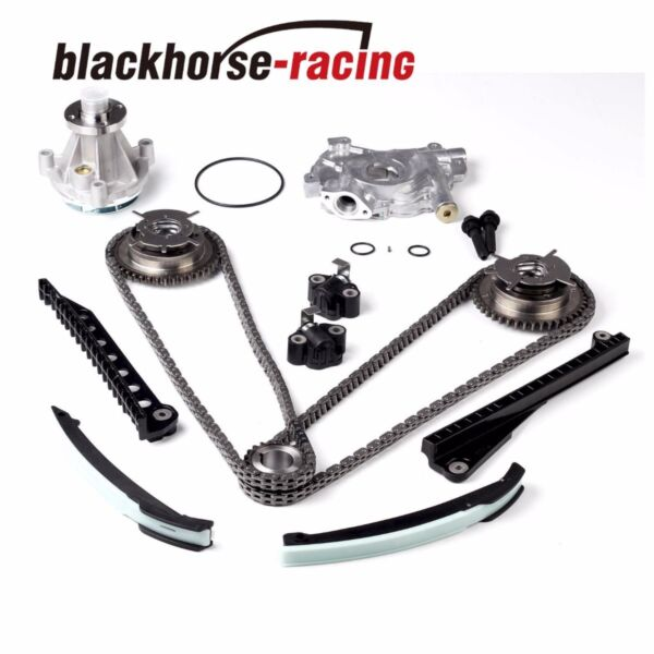 Timing Chain kit Oil&Water Pump+Cam Phasers For Ford F150 Lincoln 5.4L 2004-2008