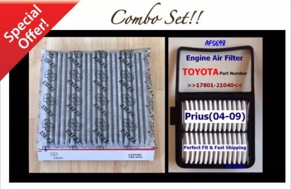 CARBONIZED CABIN ENGINE AIR FILTER FOR TOYOTA PRIUS 04 09 AF5698 C35516 $16.50