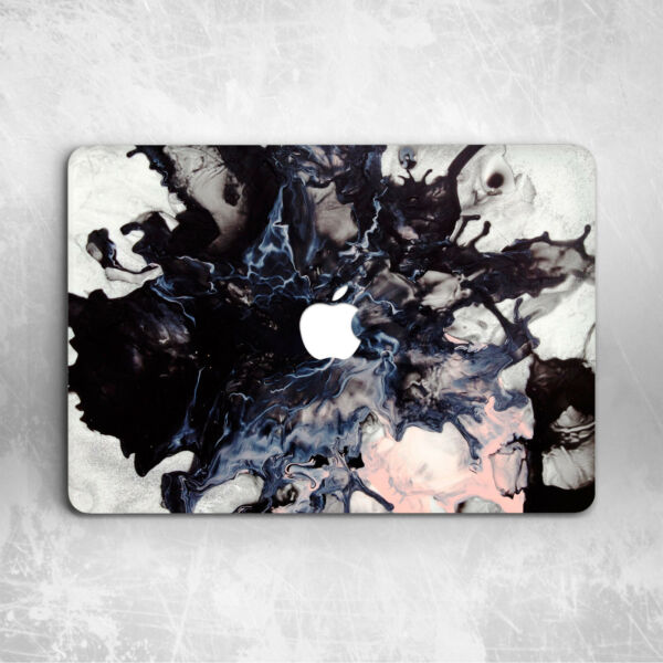 Oil Painting Black Marble Ink Hard Cover Case For Macbook Pro 16 13 15 Air 11 13