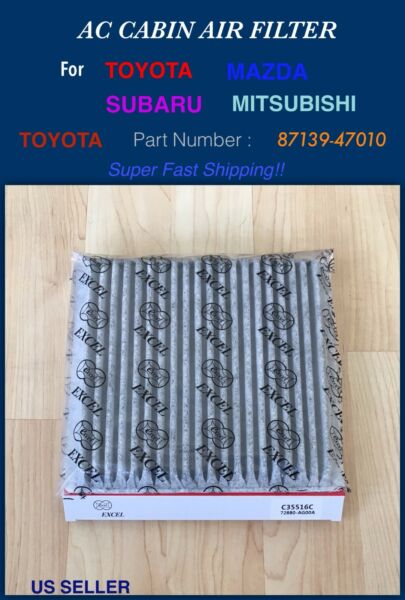CARBONIZED CABIN AIR FILTER for Prius Legacy Outback FJ Crusier US SELLER $7.95