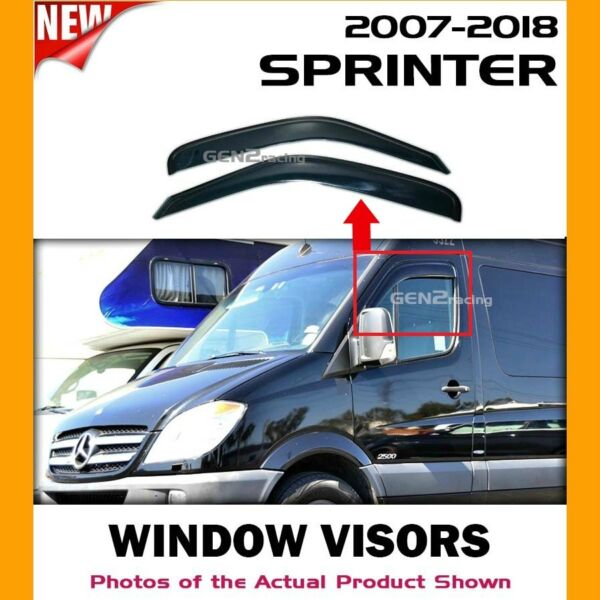 07-18 MERCEDES-BENZ SPRINTER Window Visors Deflectors Vent Shades (ACRYLIC)
