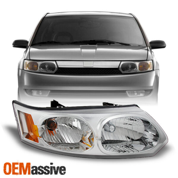 Fit 2003-2007 Saturn Ion 4-Dr Sedan Clear Passenger Side Replacement Headlight