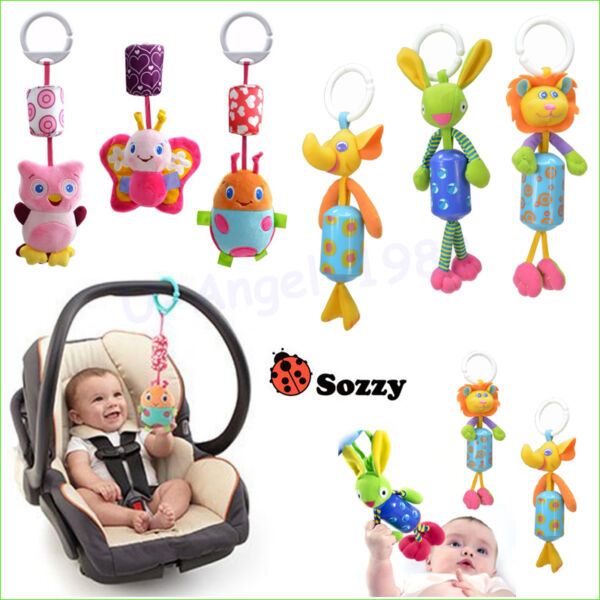 Infant Toys Mobile Baby Plush Sozzy Bed Wind Chimes Rattles Bell Toy Stroller $3.68