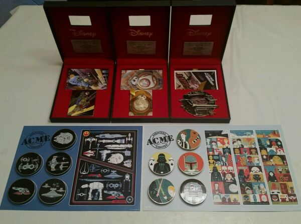 Hot Art ACME STAR WARS pin Lot All 3 le100 and both le250 sets