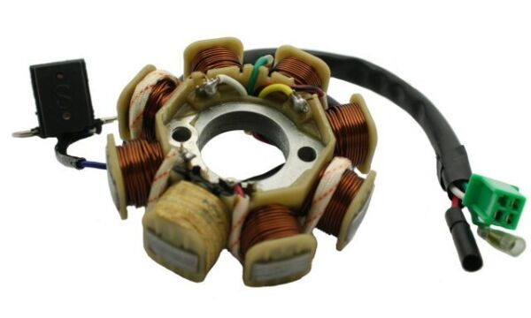 8 Coil AC Stator for 150cc and 125cc GY6 4-stroke QMI152157 QMJ152157 engines.
