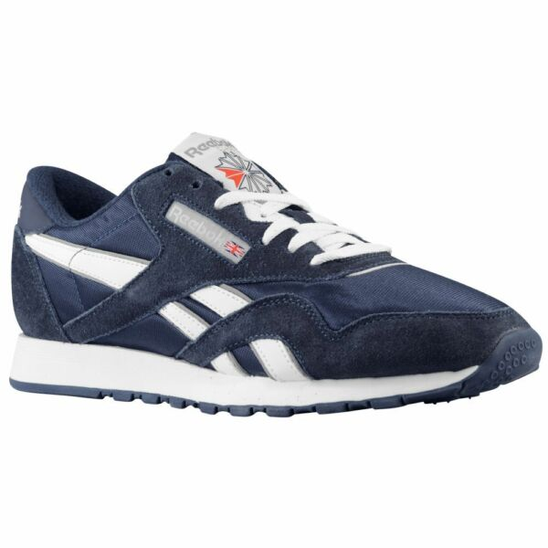 Reebok 39749 CL Nylon Classic Navy/White Casual Walking Comfort Sneakers for MEN