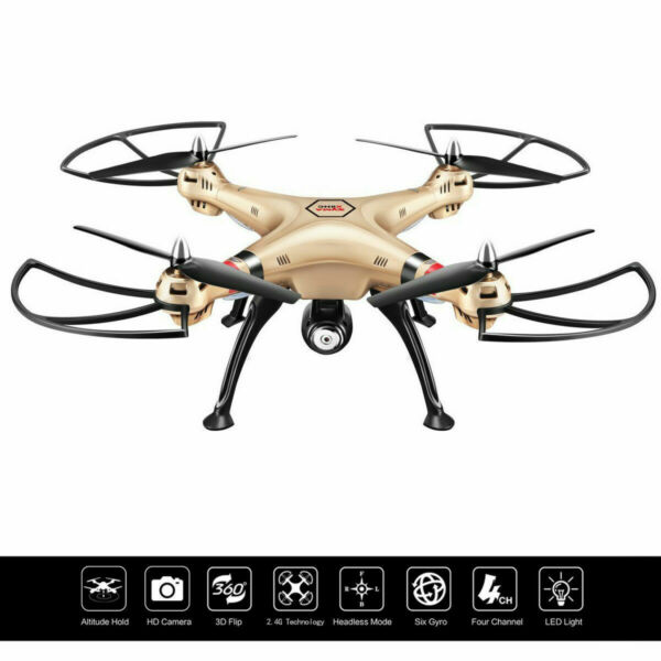 Syma X8HC 2.4G 4CH 6-Axis Gyro RC Quadcopter Drone 2MP HD Camera UAV RTF UFO New