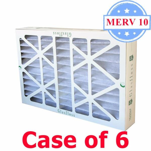 20x25x4 Air Filter MERV 10 Pleated by Glasfloss Box of 6 AC Furnace Filters $84.00