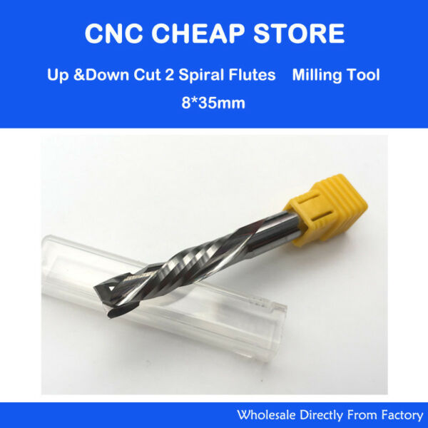 UP DOWN Cut 8x35mm Double Flute Mill Tool Cutter CNC woodworking Router Wood bit