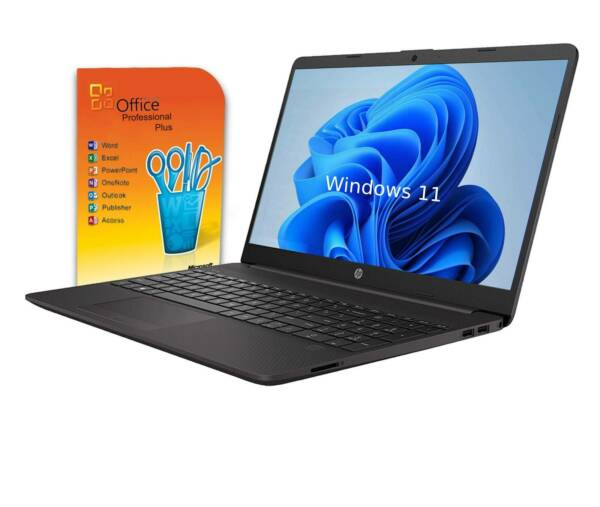 HP Notebook 15,6Zoll - AMD - 4GB DDR4 - 500GB - DVD-RW - Win 10 - Office