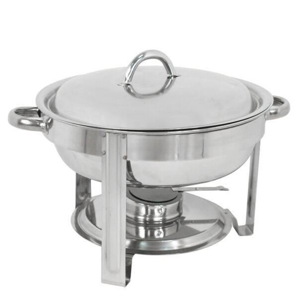 Classic Round 5 Qt. Stainless Steel Chafing Dishes Buffet Catering