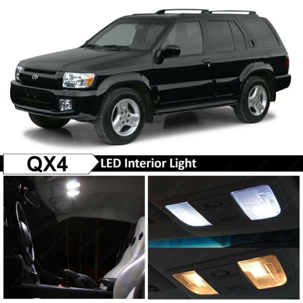 11x White Interior LED Lights Package Kit for 1999-2006 QX4 Pathfinder