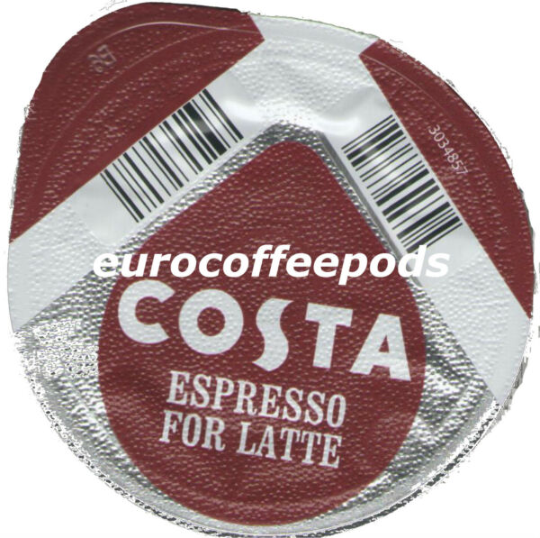96x Tassimo Costa Espresso for Latte Coffee T-discs (Sold Loose) Expresso