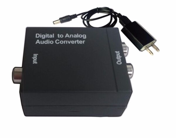 Optical Coaxial Toslink Digital to Analog Audio Converter Adapter RCA RL +Cable