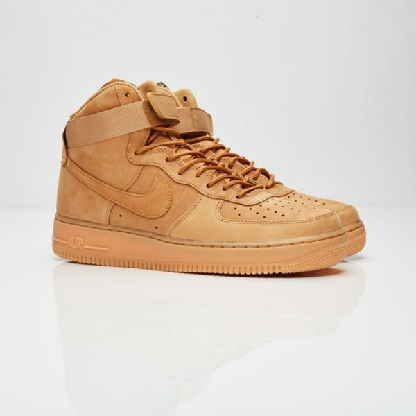 New Mens Nike Air Force 1 One High '07 LV8 Flax Wheat Green 882096-200 AF1 Tan