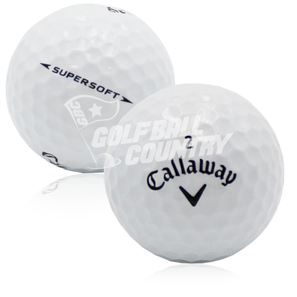 24 Callaway Supersoft AAA (3A) Used Golf Balls - FREE Shipping