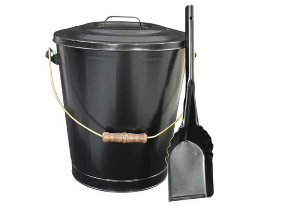 Vogelzang Ash Container Shovel Hearth Fireplace Wood Stove Storage Pellet Bucket