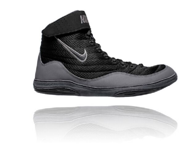 New Nike Inflict 3 Wrestling Shoes 325256 003 Black size 14