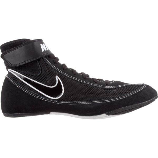 Nike  366683 001 Black White  Speed Sweep VII Wrestling Shoes size 12