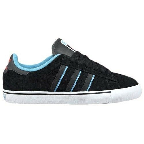 Adidas CAMPUS VULC Black Aqua Scarlet Discounted Skate (159) Men's Shoes