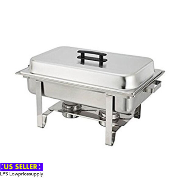 6 PACK Full Size 8 Qt. Stainless Chafing Dishes Folding Frames FAST SHIPPING