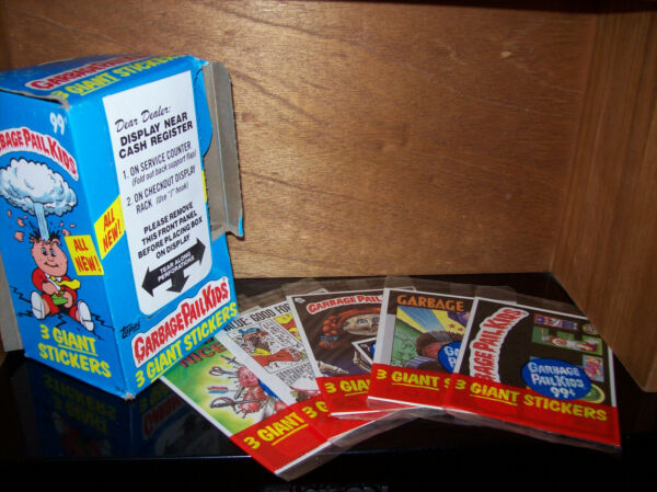garbage pail kids Giant Stickers 7 different Giant Cards 1986 Topps GPK 1986