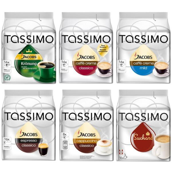 Tassimo T-Discs Set 6 Varieties up to 96 Disc Free Choice Coffee Chocolate