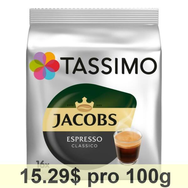 Tassimo Jacobs Espresso Rainforest Alliance 5 x 16 T-Discs