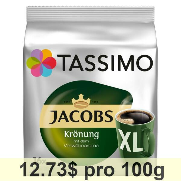 Tassimo Jacobs Krönung XL Rainforest Alliance Pack of 5 5 x 16 T-Discs