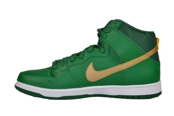 Nike DUNK HIGH PRO SB Green Metallic Gold St. Patricks Day (231) Men's Shoes