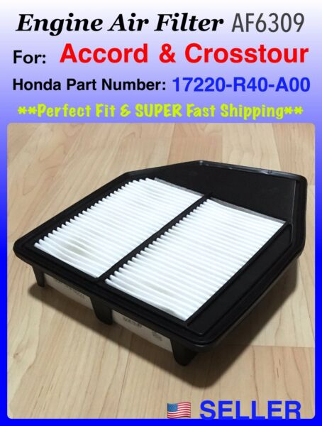 ENGINE AIR FILTER For Honda Accord 4CYL 2.4L 2008 2012 AF6309 Fast ship $10.35