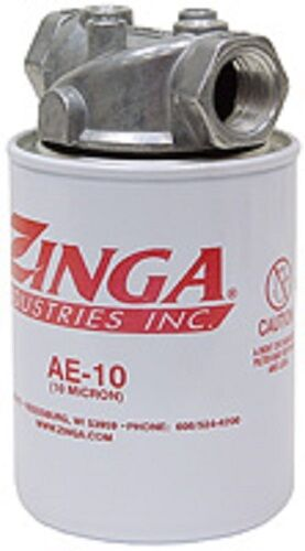 Hydraulic Oil Tank Return Filter Assembly Zinga AE 10 Micron with 3 4quot; NPT Head $39.95