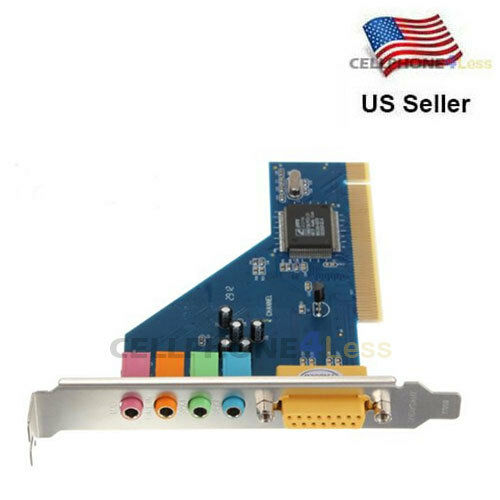 4 Channel 8738 Chip 3D Audio Stereo PCI Sound Card