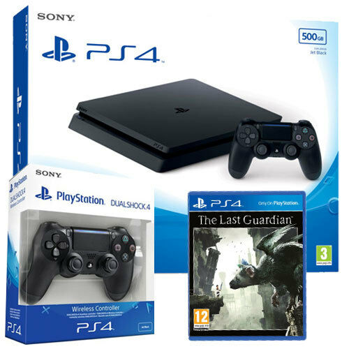PS4 CONSOLE 500GB SLIM PLAYSTATION 4 + THE LAST GUARDIAN + 2ND DUALSHOCK 4 V2