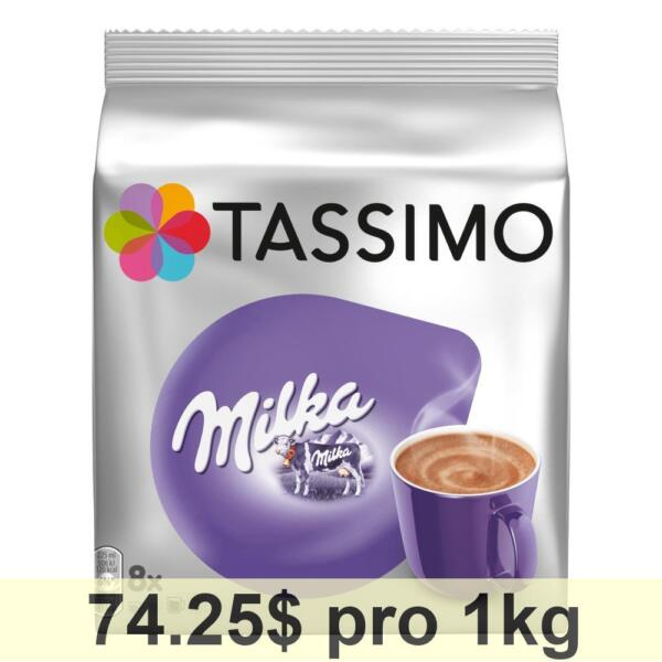 Tassimo Milka Cacao Specialty Cup Sizes 5-Pack Chocolate Capsules 40 T-Discs