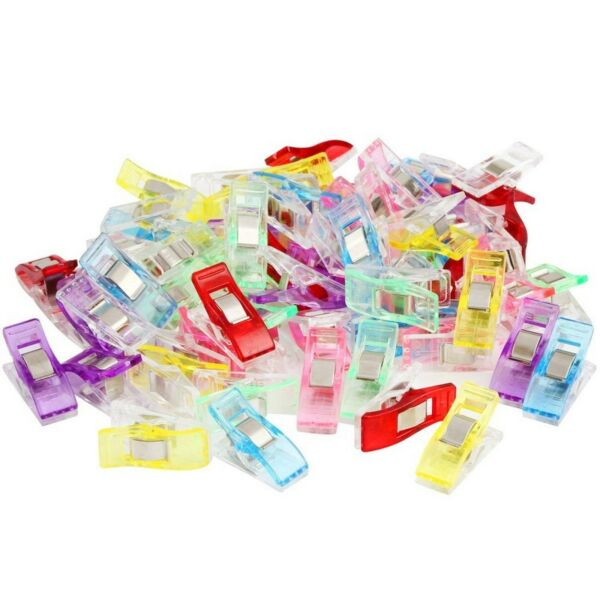 50/100PCS Pack Clover Wonder Clips for Crafts Quilting Sewing Knitting Crochet