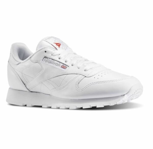 REEBOK CLASSIC LEATHER White Grey 9771 MENS CLASSIC RUNNING SHOES