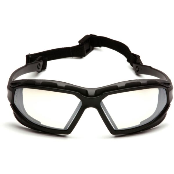 Pyramex Highlander Plus Safety Glasses with Indoor Outdoor Anti-Fog Mirror Lens
