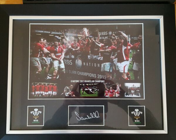Six Nations Champions 2012 Wales Signed Picture by Sam Warburton Ltd. Edition