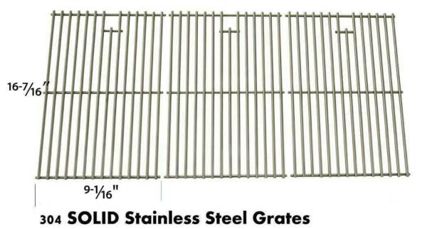 Vermont Castings VCS3507B1 VCS4000 VC100B Stainless Cooking Grates Set of 3
