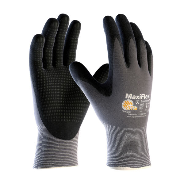 PIP 34-844 ATG MaxiFlex Endurance Micro-Dot Nitrile Coated Gloves 3 Pair Medium