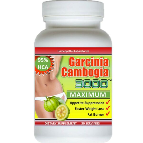 PURE Garcinia Cambogia Extract 3000 maximum 95% HCA Weight Loss Diet FAT BURNER