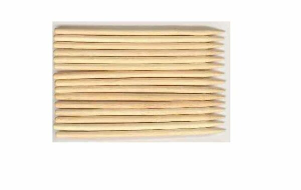 100 Apple Sticks Candy Wood Bamboo Skewers Corn Dog Sticks 5.25 inches 1 4quot;dia $7.99