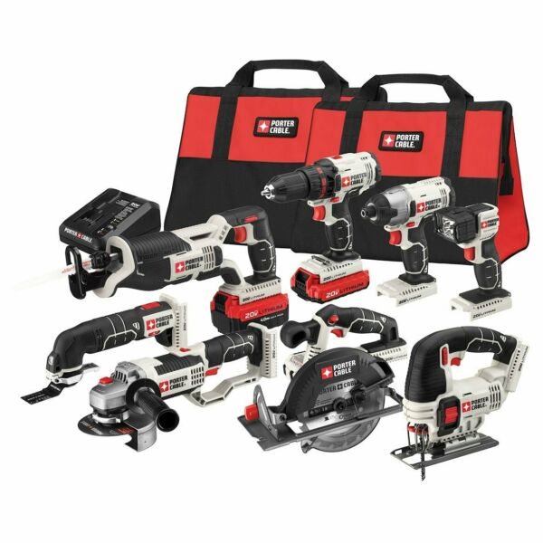 Porter-Cable PCCK619L8 20-Volt 8-Tool MAX Lithium-Ion Cordless Combo Kit