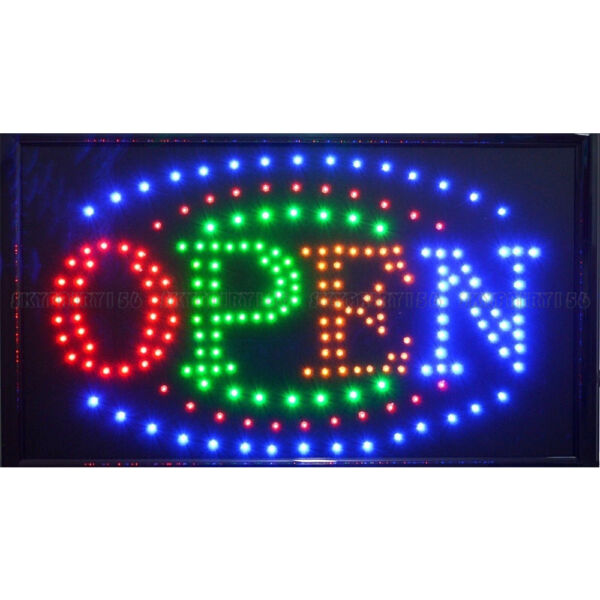 """21"""" x 13"""" LED Business Large Open Sign + OnOff Switch Ultra Brighter Neon Light"""