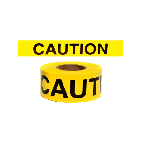 Barricade CAUTION Tape, Yellow 300 Foot Roll