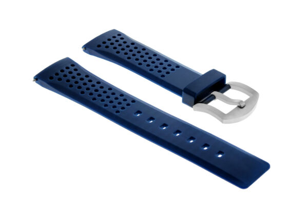 22MM SOFT RUBBER BAND STRAP FOR INVICTA RUSSIAN 1959 DIVER WATCH AUTOMATIC  BLUE