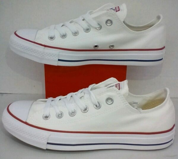 Converse All Star Chuck Taylor Low Top Canvas Optical White M7652 All Size