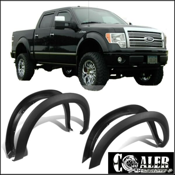 2006 FORD F150 FENDER FLARES FACTORY OE STYLE SMOOTH 4PCS PAINTABLE NO DRILLING